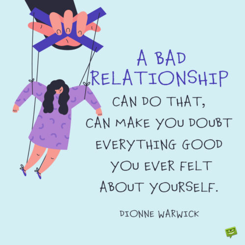 Toxic relationship quote to note and share.