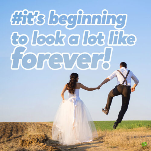 Funny wedding captions for couple to add to your photo posts.