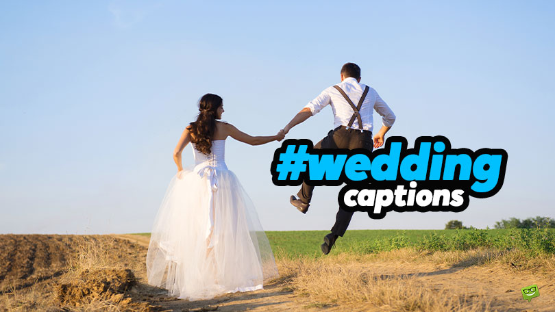 30+30 Wedding Captions for That Big Day
