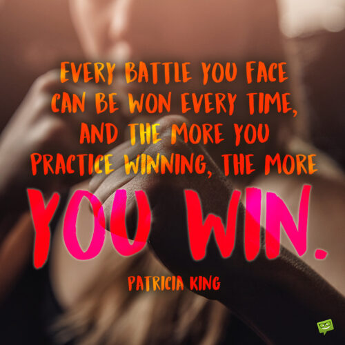 Winning quote to note and share.