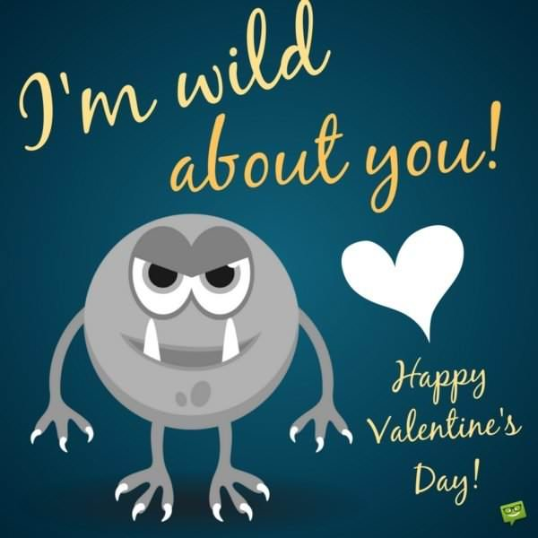 I'm wild about you! Happy Valentine's day!