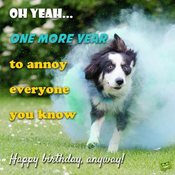 Oh yeah, one more year to annoy everyone you know.