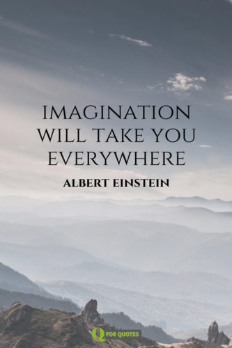 Imagination will take you everywhere. Albert Einstein