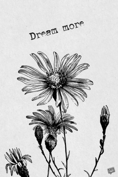 Dream more.
