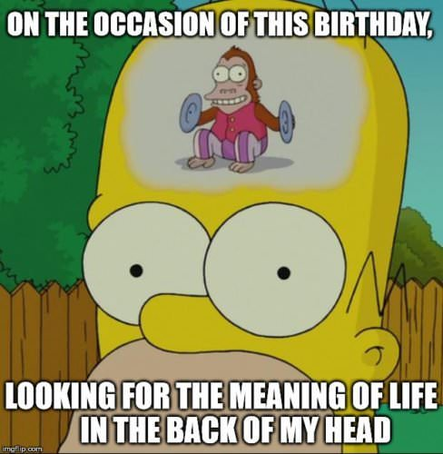 On the occasion of this birthday, looking for the meaning of life in the back of my head.