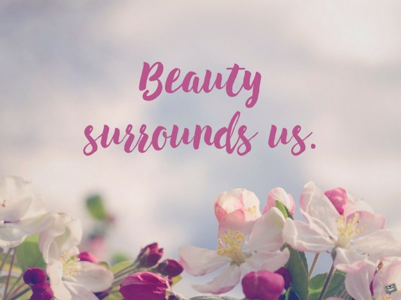 Beauty surrounds us.