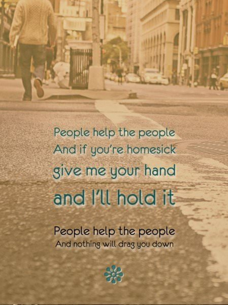 "Birdie - ""People help the people"""