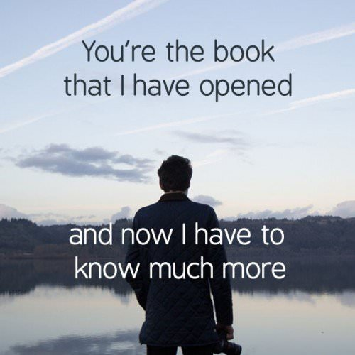 """You're the book that I have opened and now I've got to know much more. Massive Attack - """"Unfinished sympathy"""""""