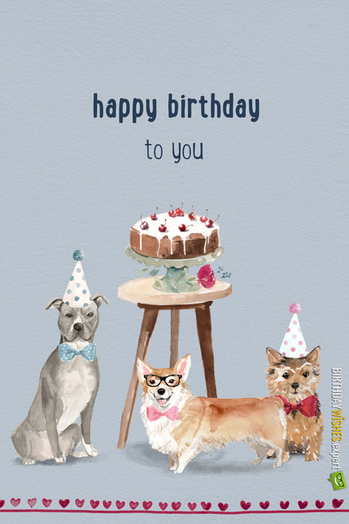 Happy Birthday Images With Dogs And Puppies