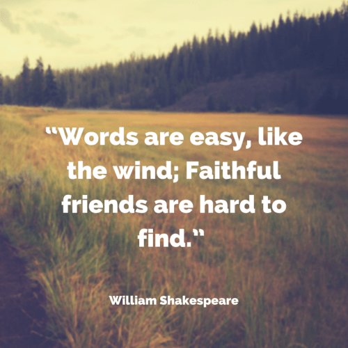 quote about friendship william