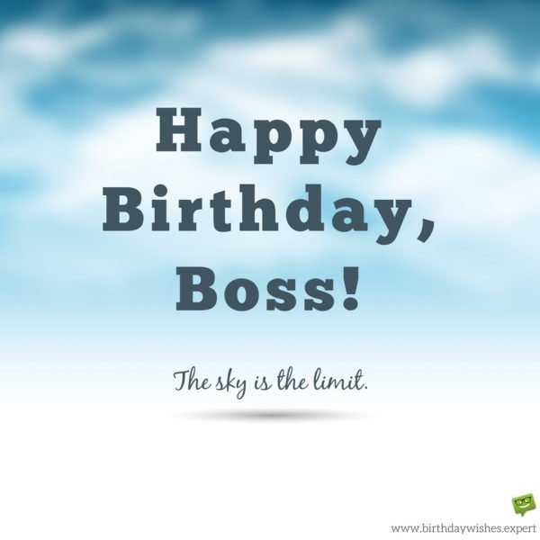 Professionally Yours Happy Birthday Wishes For My Boss