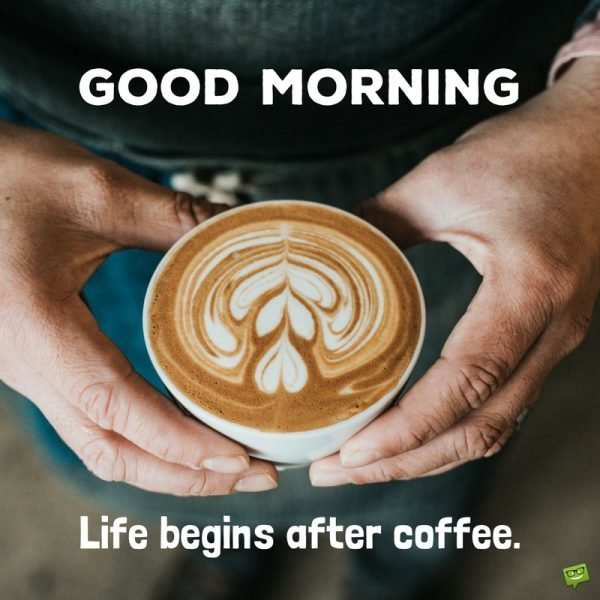 Good Morning. Life begins after coffee.