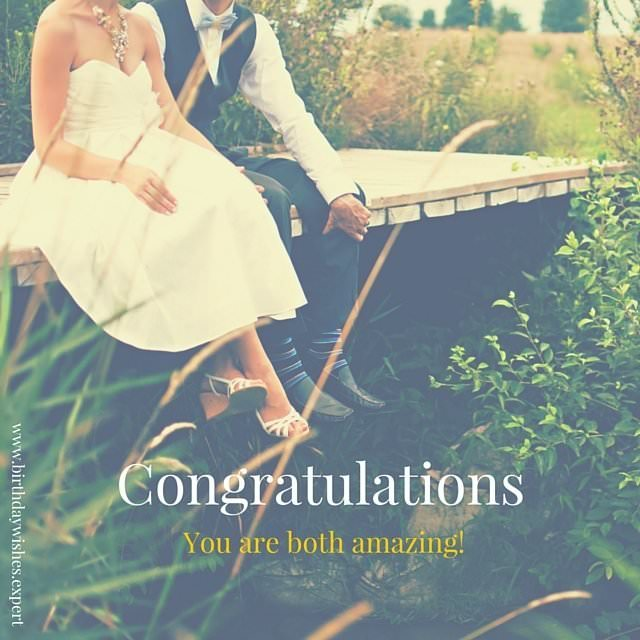 Congratulations on getting married!