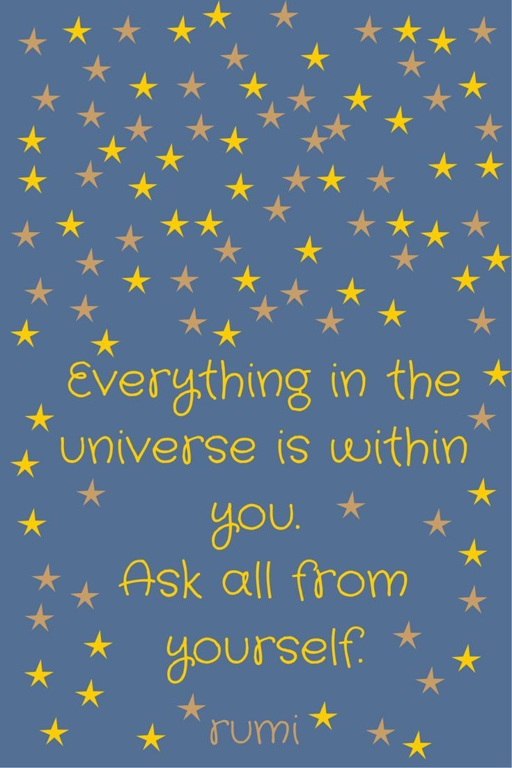 Everything in the universe is within