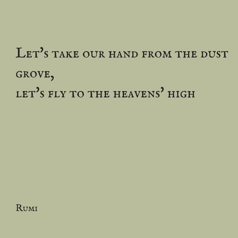Let's take our hand from the dust