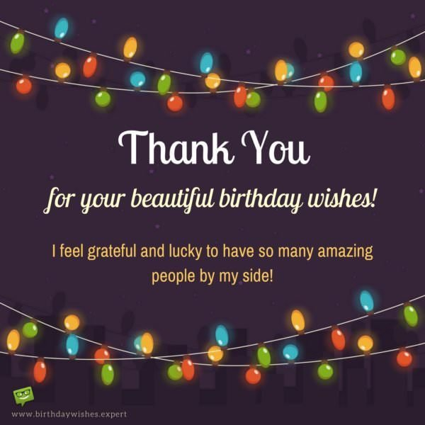 Amazing Birthday Messages: Thank You For Your Birthday Wishes