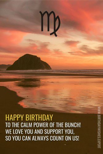 Happy Birthday, to the calm power of the bunch! We love you and support you, so you can always count on us!