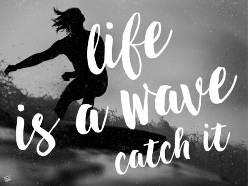 Life is a wave, catch it!