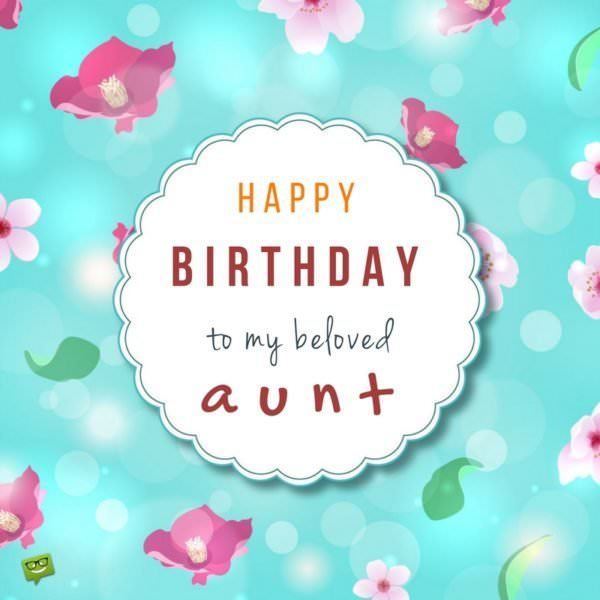 Happy Birthday to my beloved aunt!