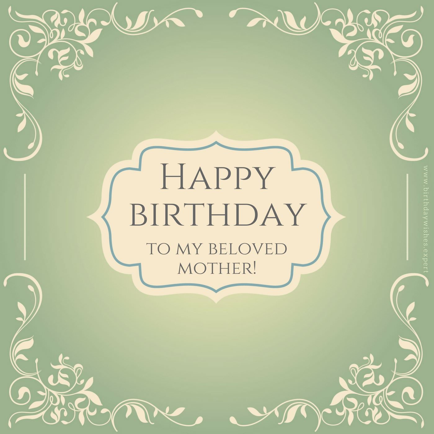 Best mom in the world birthday wishes for your mother happy birthday to my beloved mother m4hsunfo