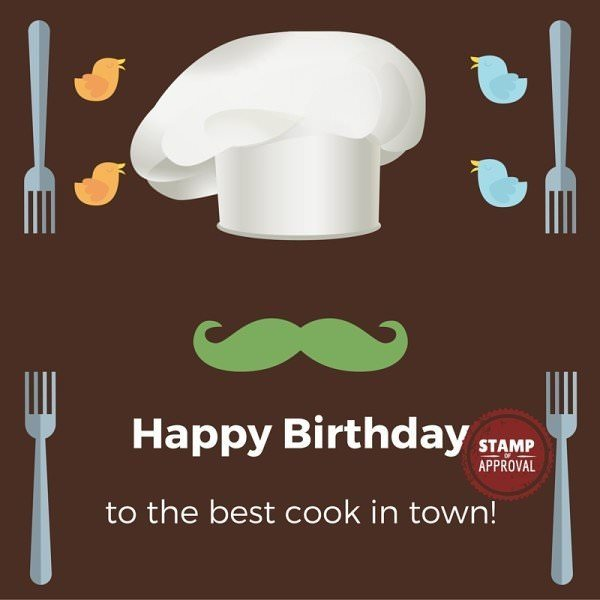 Happy Birthday to the best cook in town.