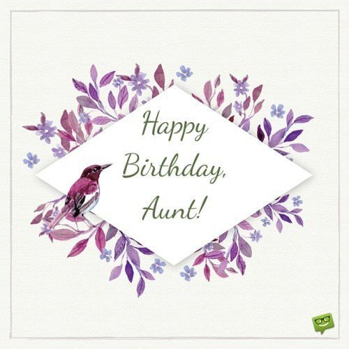 Happy Birthday, Aunt!