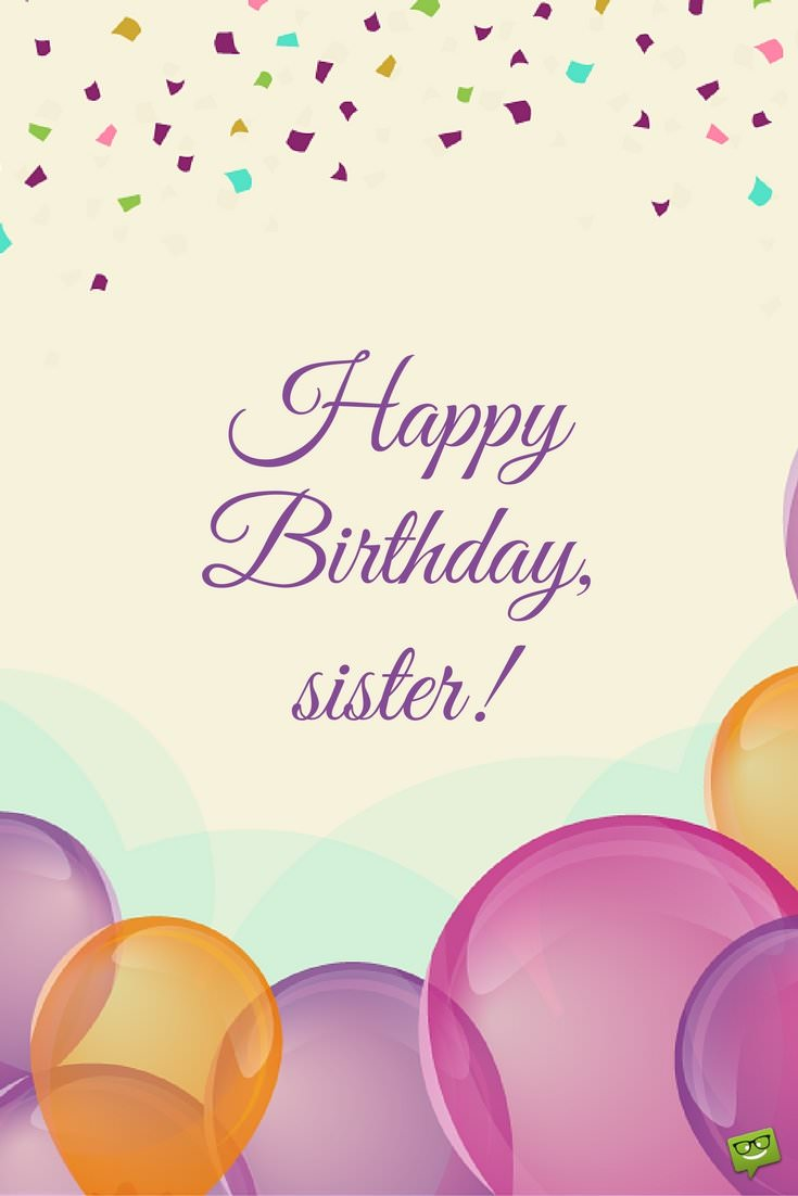 happy birthday sister balloons images
