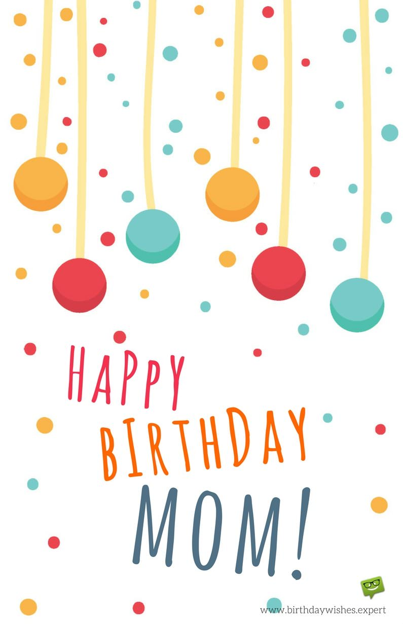 Best Mom in the World – Happy Birthday Greeting Text