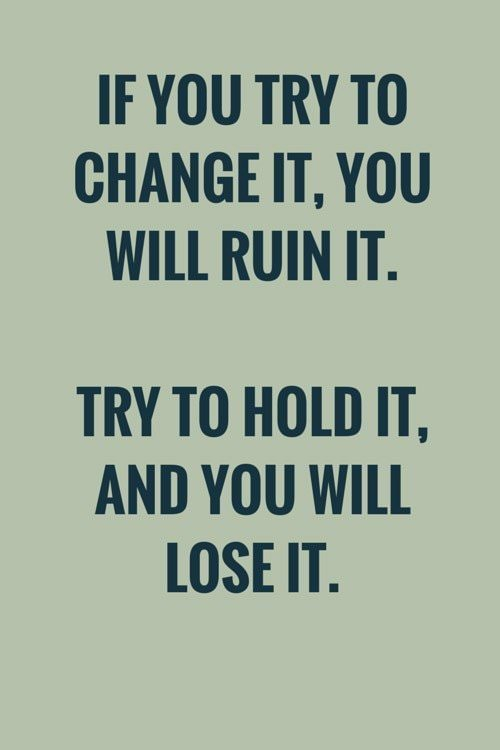 If you try to change it, you will ruin