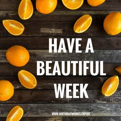 Have a beautiful week.