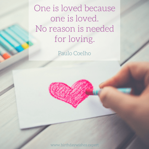 Love Quote by Paulo Coelho.