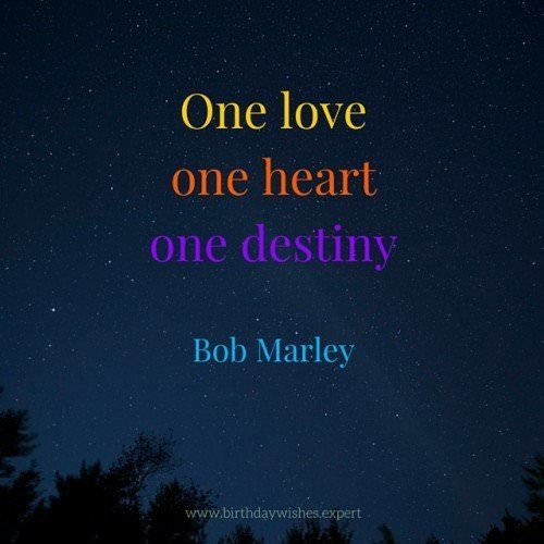 Love Quote lyrics by Bob Marley.