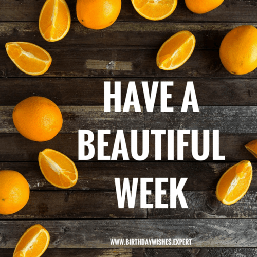 Have a beautiful week!