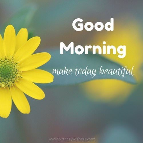 Good Morning. Make today beautiful.