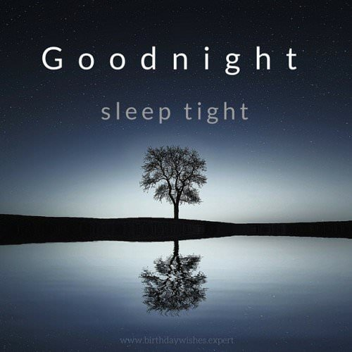 Good night - Sleep tight