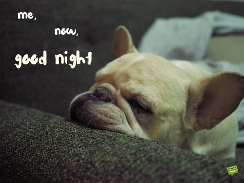 me, now, good night.