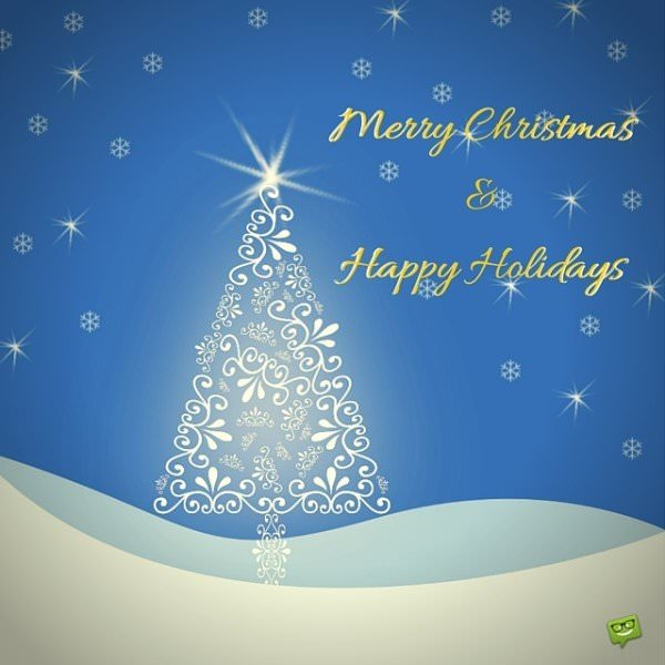 Merry Christmas and Happy Holidays