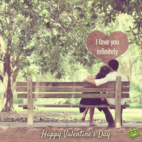 I love you infinitely. Happy Valentine's Day!