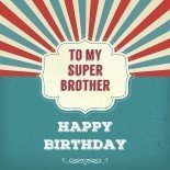 Happy Birthday to my super brother, vintage design