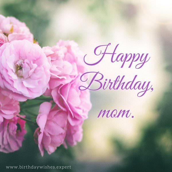 Happy Birthday, mom.