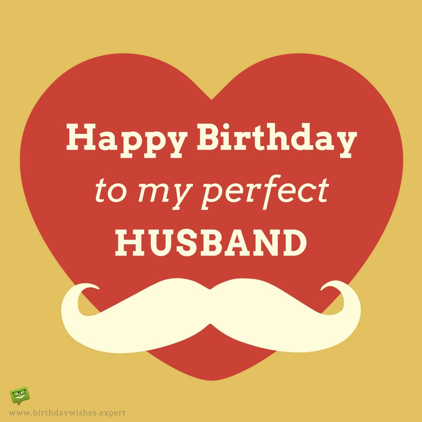 Happy Birthday To My Perfect Husband