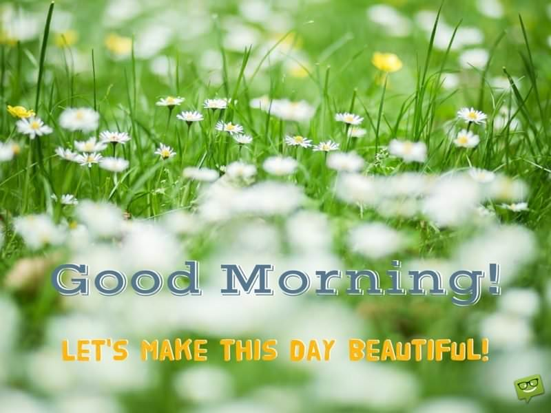 Good Morning! Let's make this day beautiful.
