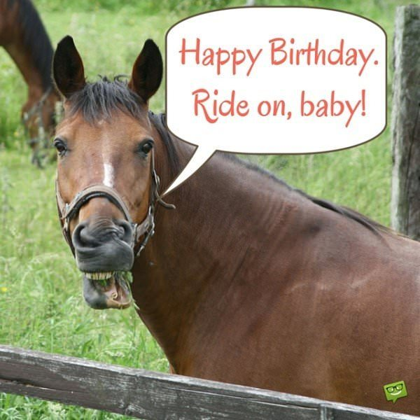 Happy Birthday. Ride on, baby!