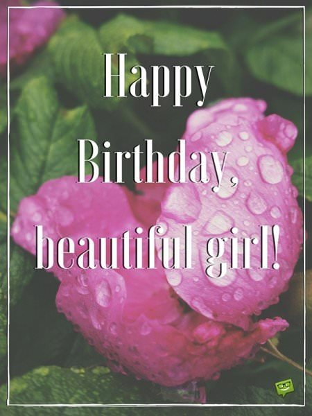 Happy Birthday, beautiful girl!