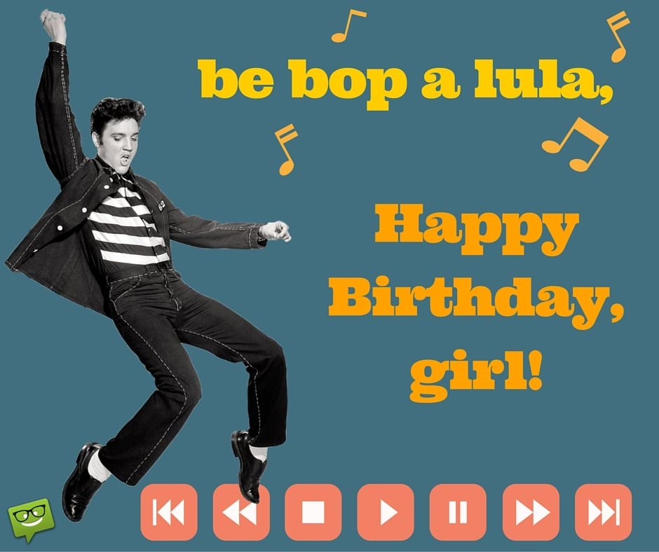Happy Birthday image with Elvis.