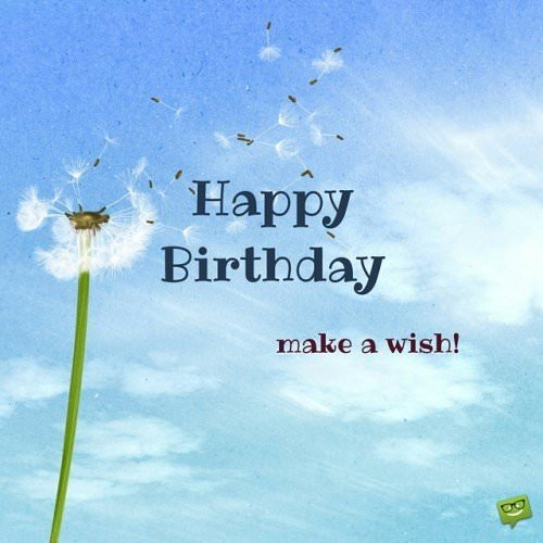 Happy Birthday, make a wish!