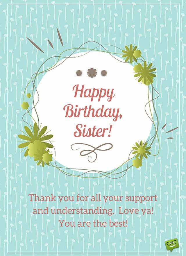 Happy Birthday, Sister! | 40 Cute Wishes for Her Happy Birth Day Images For Sister