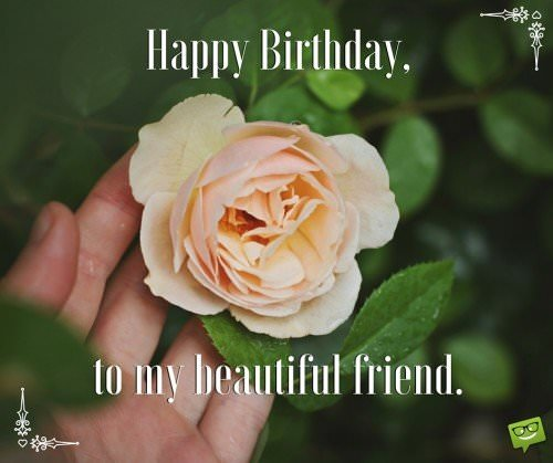 Happy Birthday, to my beautiful friend.
