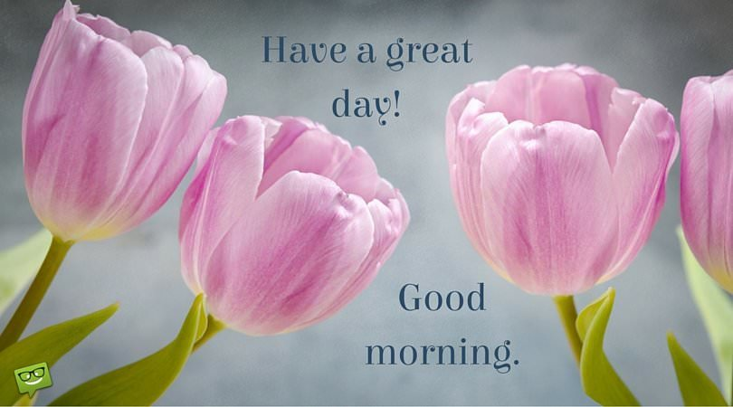 Have a great day! Good Morning.