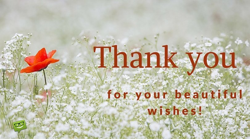 Thank you for your beautiful wishes!